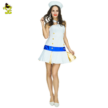 Adult Sailor Costume Womens Summer Party School Uniform Cosplay Sailor Girls Sexy SeaGirl Dress Halloween Role Play Costume