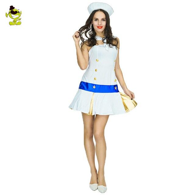 Adult Sailor Costume Womens Summer Party School Uniform Cosplay Sailor Girls Sexy SeaGirl Dress Halloween Role  sc 1 st  AliExpress.com & Adult Sailor Costume Womens Summer Party School Uniform Cosplay ...