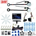 DC24V Universal Car/Truck 2-Doors Electric Power Window Kits 3pcs/Set Switches and Harness  #CA4422