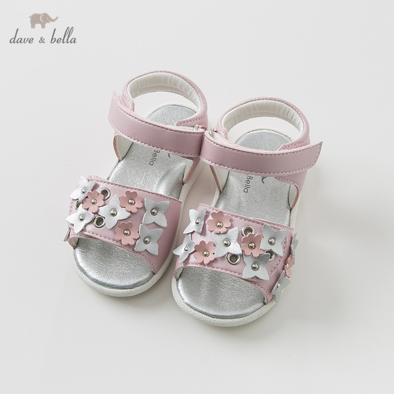 DB10242 Dave Bella summer baby girl sandals new born infant shoes girl sandals Princesss shoes