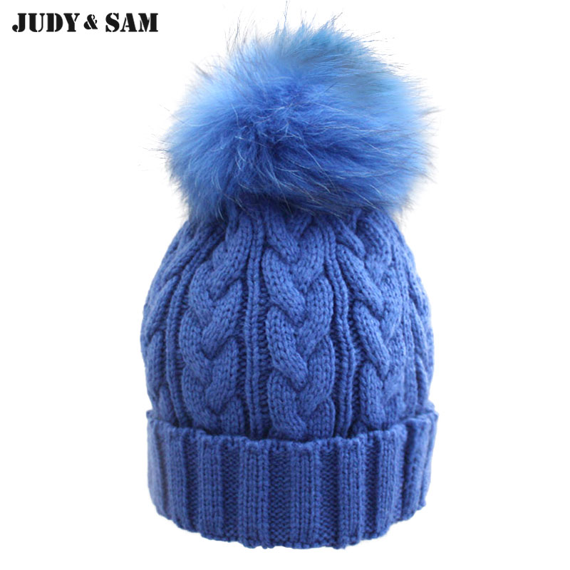 Newly Stylish Multi Colors Hat in Winter for Women Warm Apparel Accessories Skullies Beanies with 100% Real Fur Pom Poms corporate real estate management in tanzania