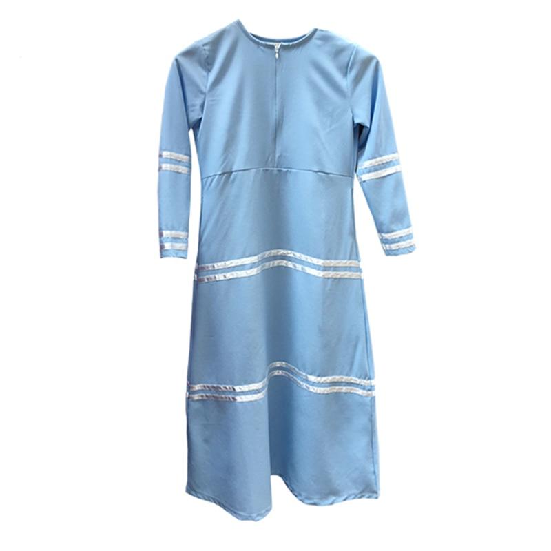 10-16Years 2017 latest design muslim kids clothes fashion teenager young girl dress islamic turki muslim dress ramadan 1