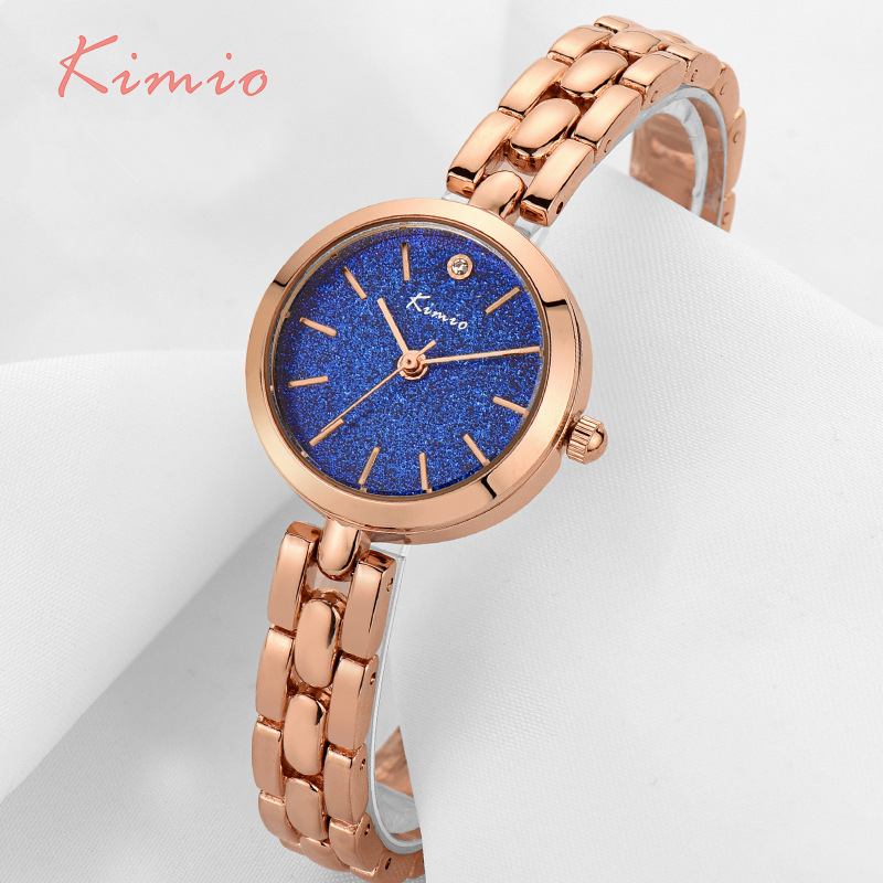KIMIO Fashion Colorful Stars Shine Dial Women Bracelet Watch Women s Wristwatch Rose Gold Quartz Womens