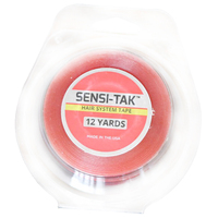 Free shipping 1 pcs 12 yards SENSI TAK Double Sided Adhesive Hair Tape For Tape Extension/Toupee/Lace Wigs