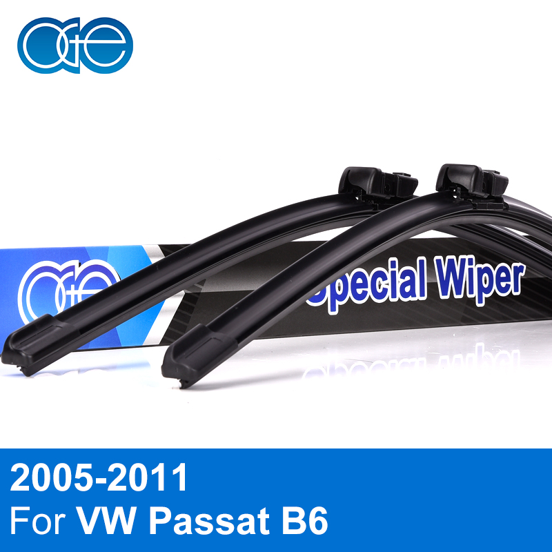 все цены на Oge Wiper Blades For VW Passat B6 2005 2006 2007 2008 2009 2010 2011 High Quality Rubber Windshield Car Accessories онлайн