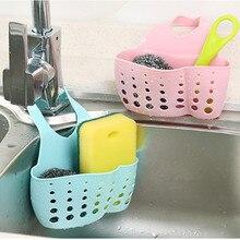 Sink Storage Basket Faucet Hanging Cradle Adjustable Organizer Drainer Shelving Rack Cutlery Sponge Holder Kitchen Accessory