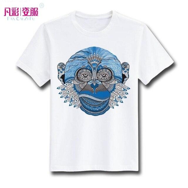 Moda Gitana Chimpancé Cabeza Camiseta de Diseño Inspirado Por Gorila  Camiseta Fresca Ocasional de La Novedad 8ce5ae3557529