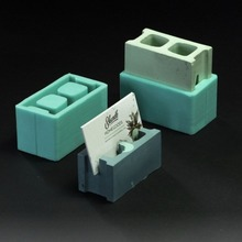 Multifunctional cement business card holder mold pen holder