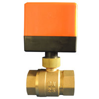 2 Way 3 Wire Electric Motorized Brass Ball Valve With Actuator AC 220V DN15mm DN32mm