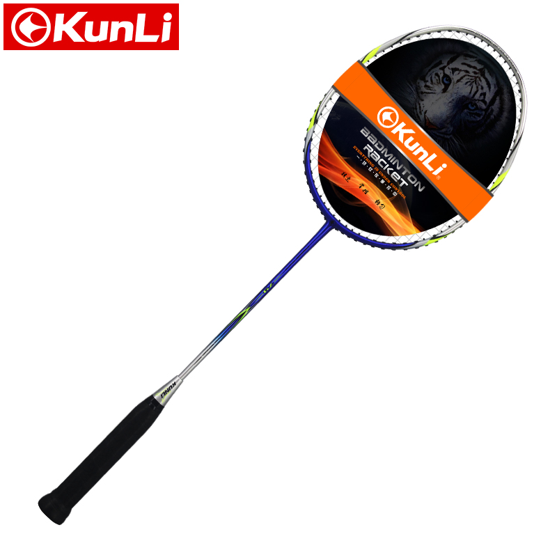 цена на original KUNLI official badminton racket 5U 79g FORCE SNIPE 79 full carbon Ultra light attack racket professional feather racket