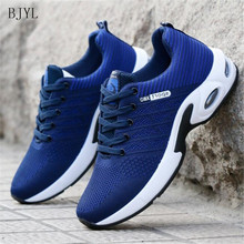 BJYL 2019 new spring summer and autumn mens shoes fly woven lightweight breathable comfortable non-slip wear B155
