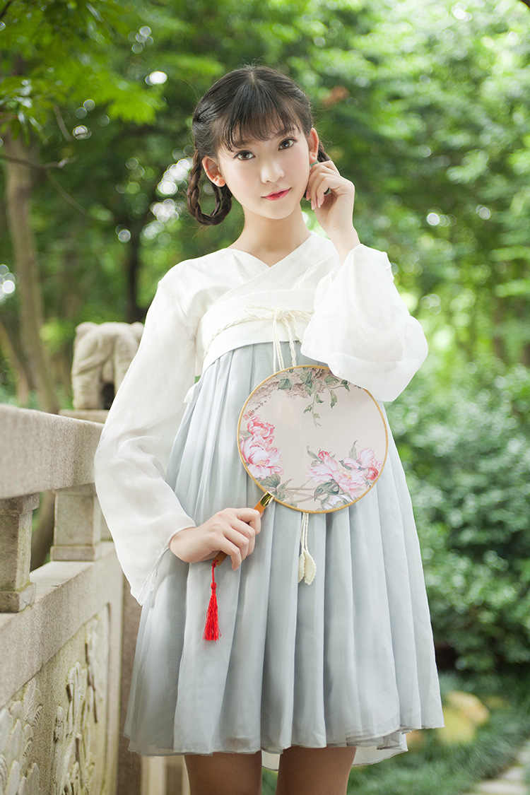 58436cbe7 Detail Feedback Questions about 2019 new Chinese Tang Dynasty Ruqun Hanfu  Women Lolita short Sleeve Chiffon Dress Costume hanfu on Aliexpress.com |  alibaba ...