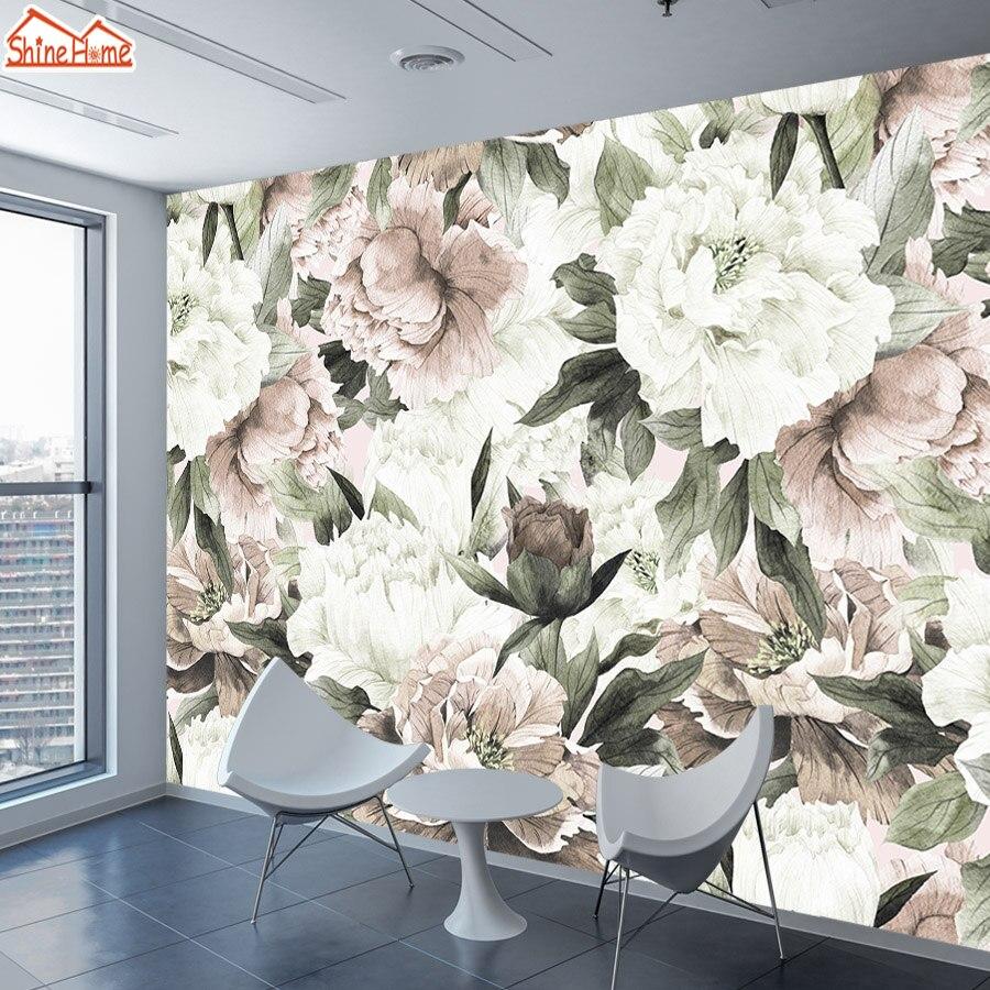 Papel De Parede Vintage Wallpapers For Living Room 3 D Wall Papers Home Decor Paper 3d Mural Wallpaper Walls Rolls Floral Rose