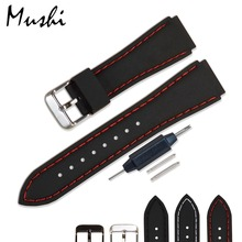 Watchband Black Diver Watch Band Rubber