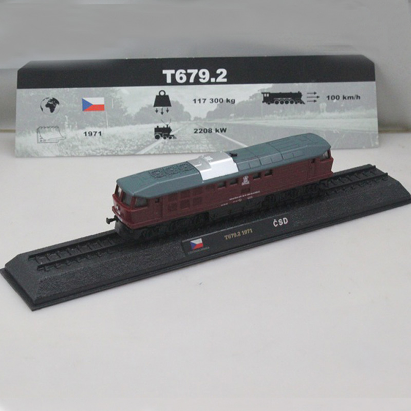 1:160 Scale CZECHOSLOVAKIA T679.2 1971 2002 BTTB CSD Static Alloy Model Train Children's toys communist czechoslovakia 1945 89