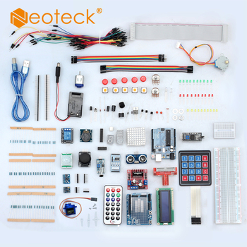 Neoteck Professional UNO R3 Starter Kit for Arduino LCD Compass Gyro DIY LCD 1602 Uno R3 board for Arduino UNO R3