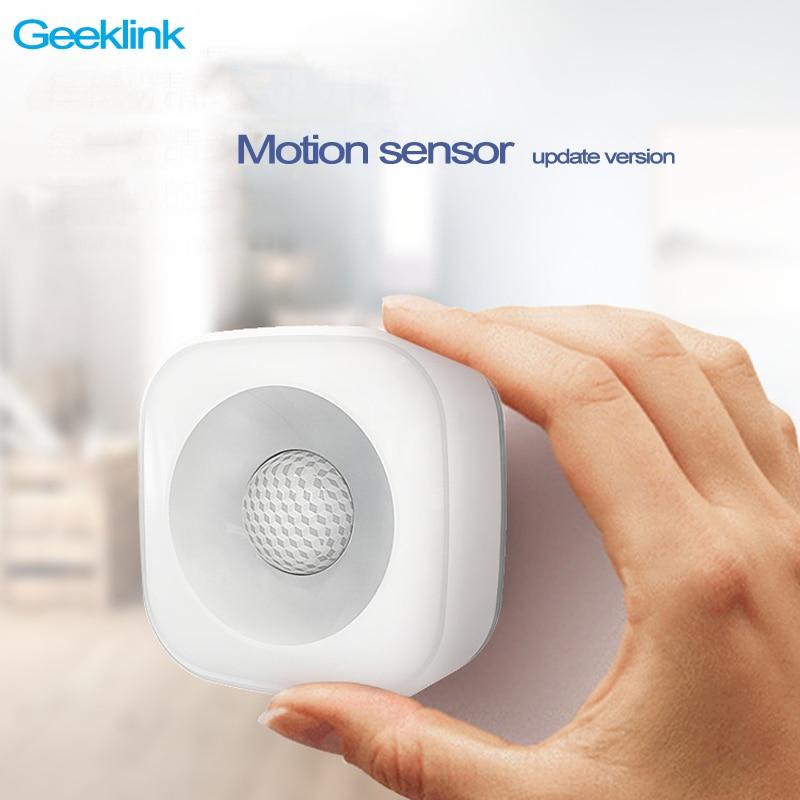 Най-новото Geeklink Smart Home Безжичен датчик за движение, широкоъгълен инфрачервен детектор за тяло Pir сензор Geeklink мислител дистанционно управление