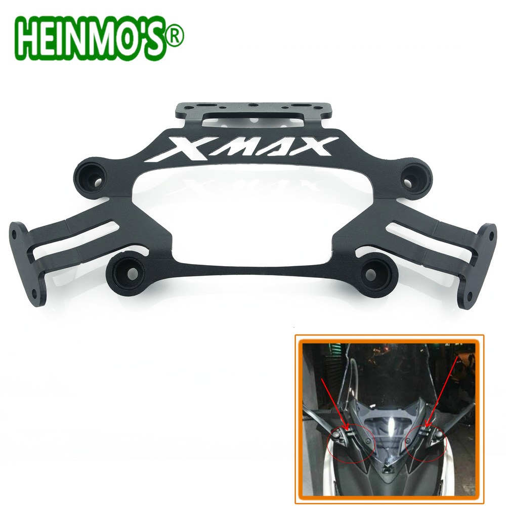 Black For Yamaha XMAX X MAX 250 300 Motorcycle Front Stand Holder Smartphone Mobile Phone bracket