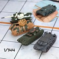 1:144 6 cm Mini Coches de Juguete Modelo de Tanque de la Segunda Guerra Mundial Adornos Escena Militar alemán Mundo Figuras de Acción Para Niños Juguetes regalos