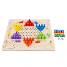Kids Toys Wooden Colorful Chinese Checkers Family Game Set Western Publishing Smooth Aeroplane Chess Learning
