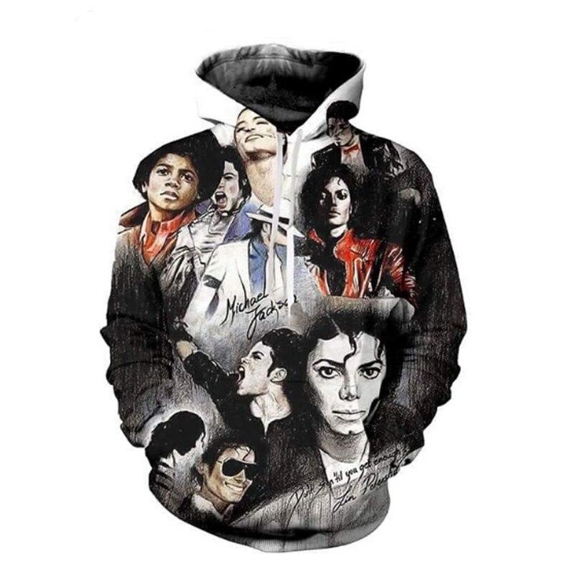 PLstar CosmosFashion 3D À Capuche Hip Hop Roi Michael Jackson Imprimer 3d Sweat Hommes/Femmes Survêtements Occasionnels Plus La Taille Dropship