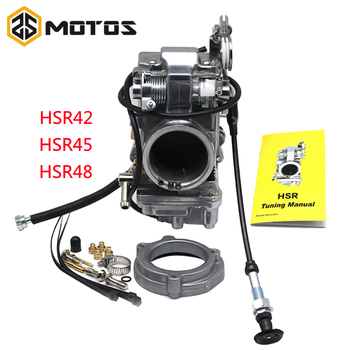 ZS MOTOS HSR42 45 48 Mikuni 42mm Carb Accelerator Pump Performance Pumper Carburetor TM42-6 42-18 Harley EVO Twin Cam For 4T недорого