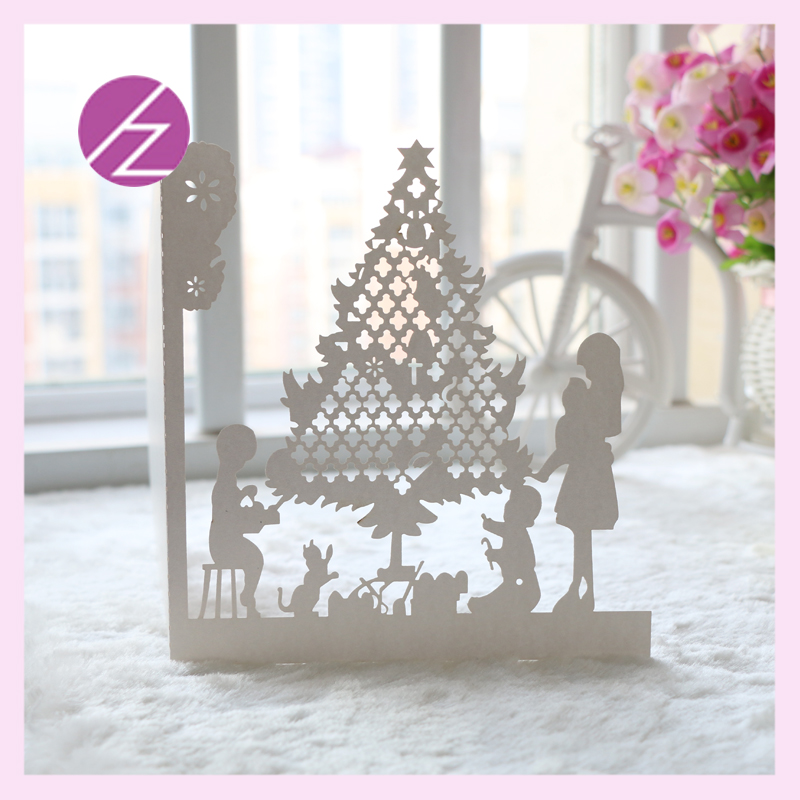12pcs free shipping happy christmas tree design wedding party ...