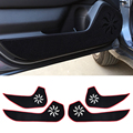 2 Cores de Carro-Styling Protetor de Borda Lateral Almofada de Proteção protegido Anti-kick Esteiras Porta Capa Para Subaru Forester 2014 2015 2016