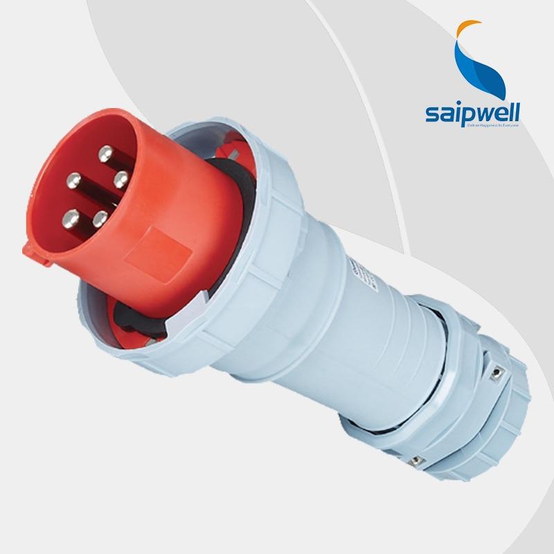 цена на 125A 400V 5P (3P+N+E) waterproof european 125 amp plug EN / IEC 60309-2 4-pin Power IP67 Splash Proof Type SP1447