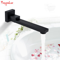 High Quality Luxurious Solid Brass Construction Chrome Finish Wall Mounted Shower Faucet Square Alba Black Swivel