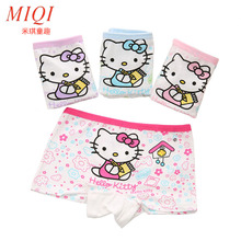 4pcs/lot 2017new fashion kids panties girls' briefs female child underwear lovely cartoon panties children clothing