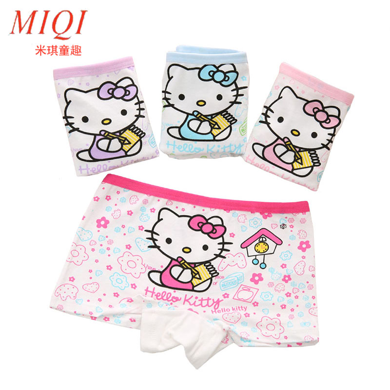 4Pcslot 2017New Fashion Kids Panties Girls Briefs Female Child Underwear Lovely -3766