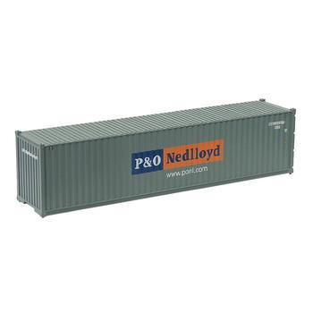 HO Scale 40ft Shipping Container P&O Nedlloyd 1:87 Freight Car Model Trains 1pc/2pcs/3pcs/5pcs/10pcs