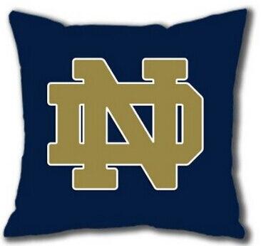 free shipping notre dame football classic logo art blue durable luxury printing square pillowcase throw cushion case pillow sham