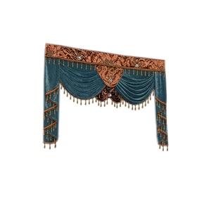 Image 3 - Роскошные занавески на заказ, используемые для штор сверху (Купите балдахин/не включая тканевые занавески и тюль)