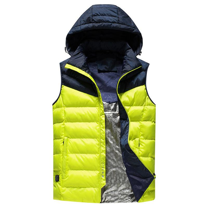 Men Winter Outdoor Heated Smart USB Work Heating Sleeveless Jacket Coats Adjustable Temperature Control Safety Clothing DSY008Men Winter Outdoor Heated Smart USB Work Heating Sleeveless Jacket Coats Adjustable Temperature Control Safety Clothing DSY008