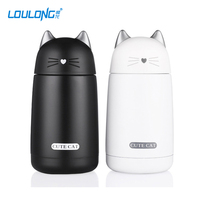 Cute Cat Thermo Cup Thermos Mug For Children Vacuum Flask 330 Ml Water Bottle Stainless Steel