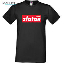 цена Dare To Zlatan T-shirt MUFC Man United Ibrahimovic S-3XL SofSpun FOTL 100% Cotton Short Sleeve O-Neck Tops Tee Shirts онлайн в 2017 году