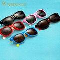 IVSTA Al Por Mayor orden de la mezcla 20 unids 802 Niños niñas Niños Niños Gafas Polarizadas gafas de sol de impresión logotipo personalizado de Silicona FLexible