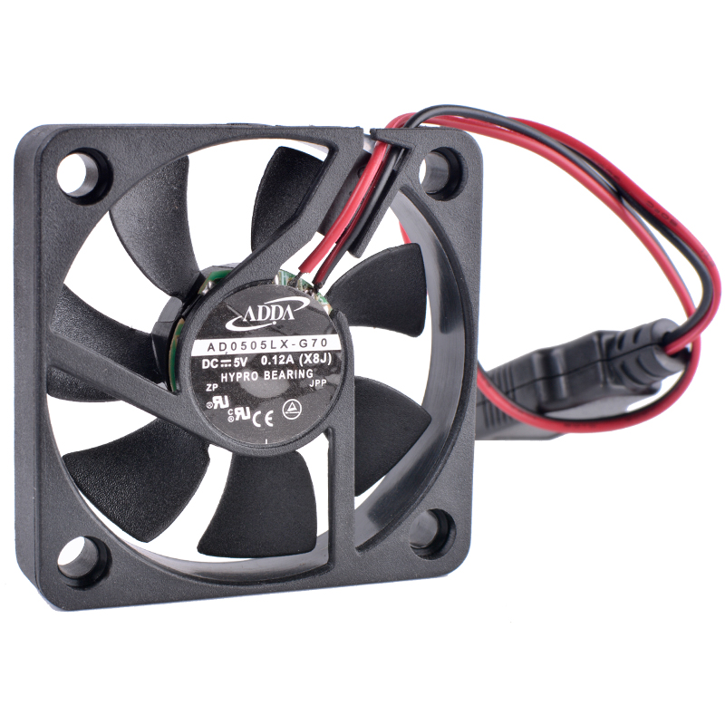 COOLING REVOLUTION AD0505LX-G70 5cm 50mm fan 5010 5V 0.12A USB Cooling fan -DIY transformation router set-top box cooling 10pcs free shipping taiwan original adda 5v 0 05a 2 5cm ultra precision cooling fan ad0205lb k50 2506 25x25x6mm