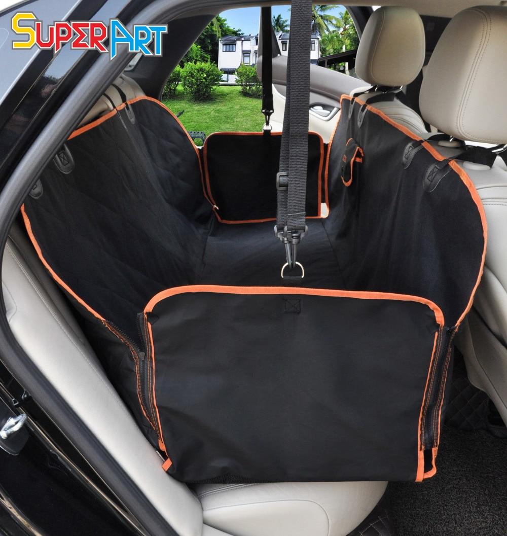 Dog Car Seat Cover Waterproof Nonslip Hammock Style Pet Back Seat Cushion for Truck SUV Van