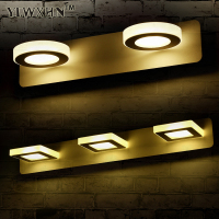 2019 Applique Murale Lamp Morden 6w 9w Anti fog Waterproof Acrylic Mirror Light Ac95v 265v Led Bathroom Brief Make up Cabinet