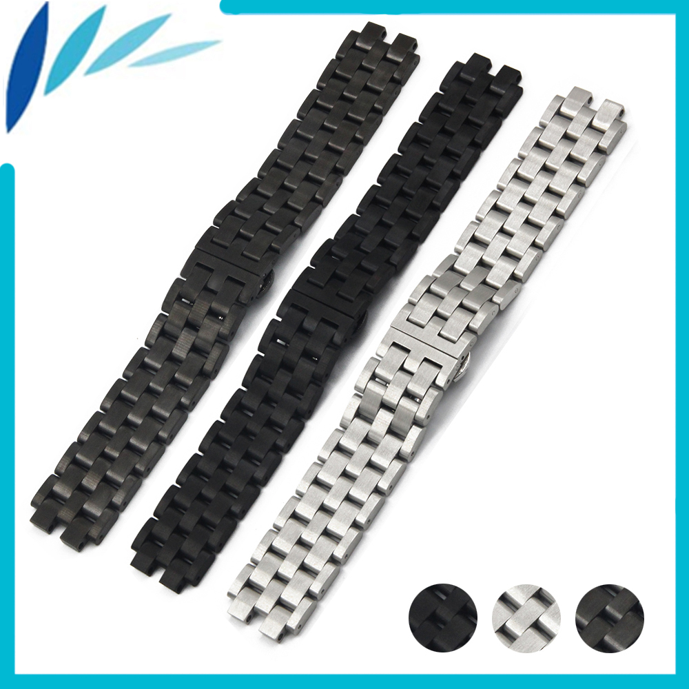 Stainless Steel Watch Band 22mm for Pebble Steel 2 Butterfly Clasp Watchband Strap Wrist Loop Belt Bracelet Black Silver + Tool 28mm convex stainless steel watchband replacement watch band butterfly clasp strap wrist belt bracelet black rose gold silver page 6