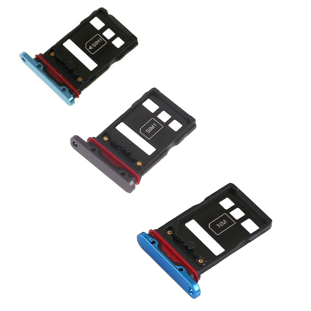OEM SIM Micro SD Card Tray Holder Replacement For Huawei P30 Pro Black Cyan Blue Color
