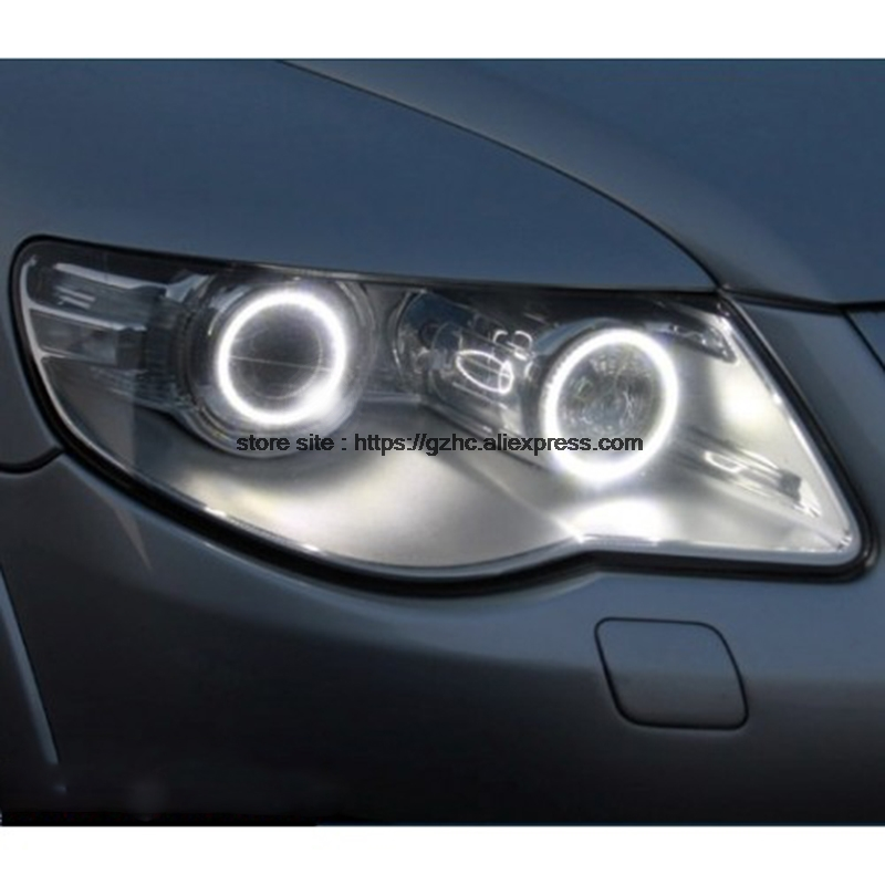 For Volkswagen VW Touareg 2007 2008 2009 2010 Ultra Bright Day Light DRL CCFL Angel Eyes Demon Eyes Kit Warm White Halo Ring наклейки dz abs volkswagen vw tiguan 2009 2010 2011 1set