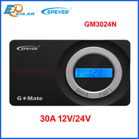 Epever GM3024N GoMate Series Flush Mount PWM Solar Charger Controller 30A 12V/24V Solar Regulator Negative ground RS485 Connect