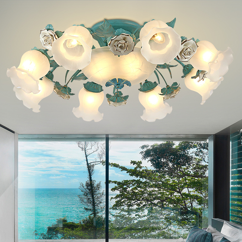 Led Chandeliers Living Room Suspension Luminaires Ceramic Suspended Lamps Luxury Lighting Fixtures Bedroom Hanging Lights Lights & Lighting