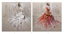 купить DIY 5D Diamond Painting Cross Stitch Square Mosaic Diamond Embroidery dancing girl Needlework Patterns Rhinestone Paintings дешево