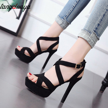 Sexy High Heel Platform Sandals Women Shoes Party Ladies High heels Square Heel Sandals Shoes Woman Straps sandalia feminina