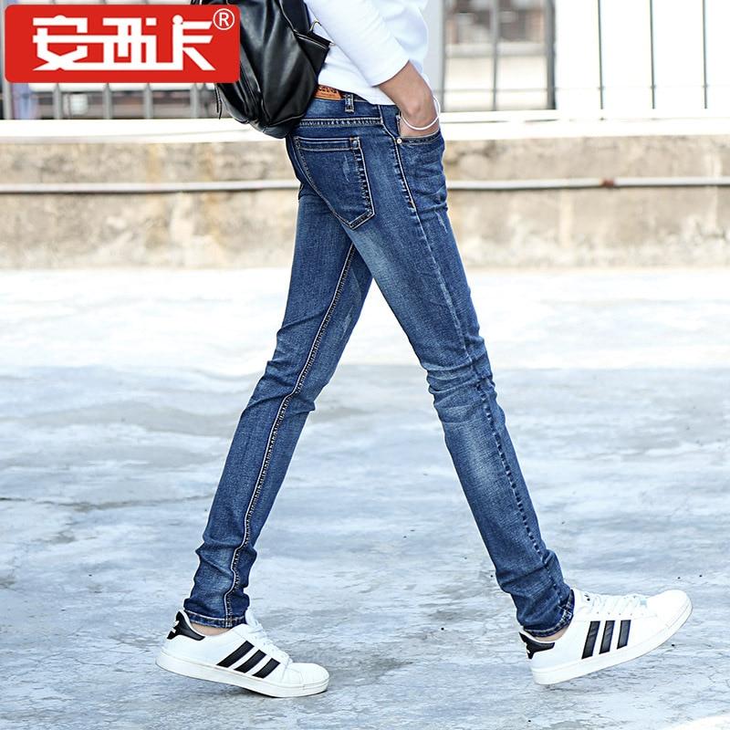 font b Jeans b font Slim Straight Stretch Pants Denim Trousers Size big size 27